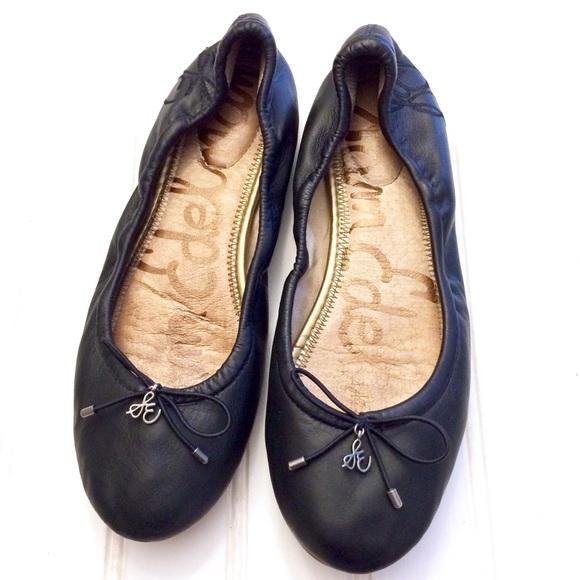 Sam Edelman Schuhes Schuhes Edelman   Navy Leder Felicia Ballet Flats   Poshmark 48fb2b